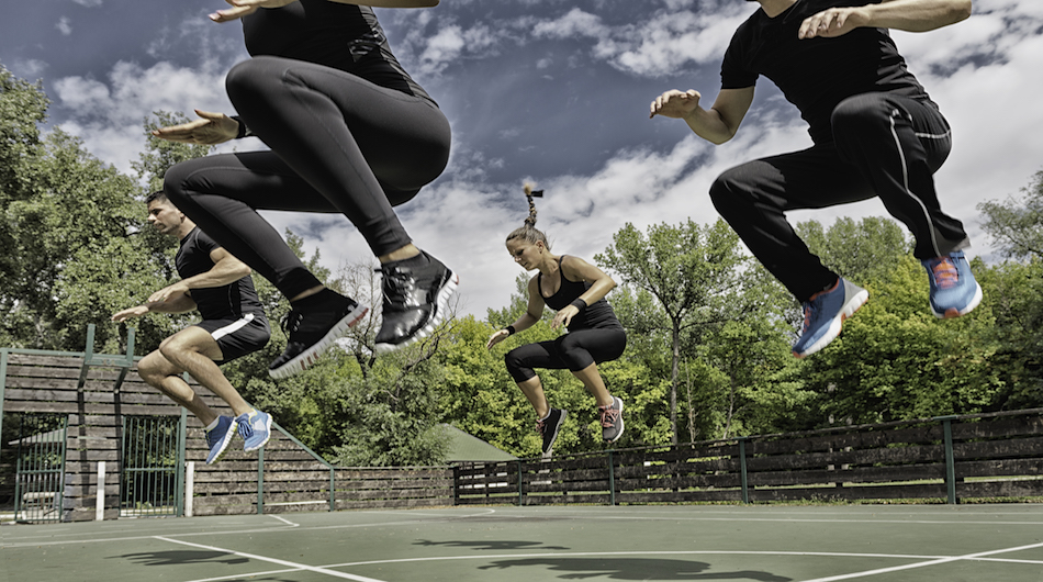 Power jump exercise
