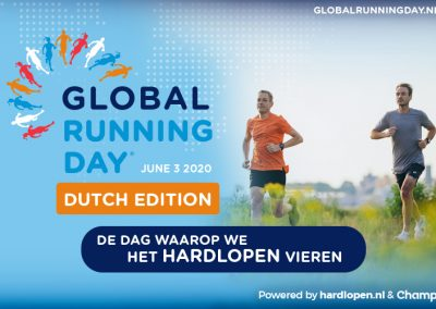 20/05/2020 – Al 1100 Nederlanders in de stemming voor Global Running Day