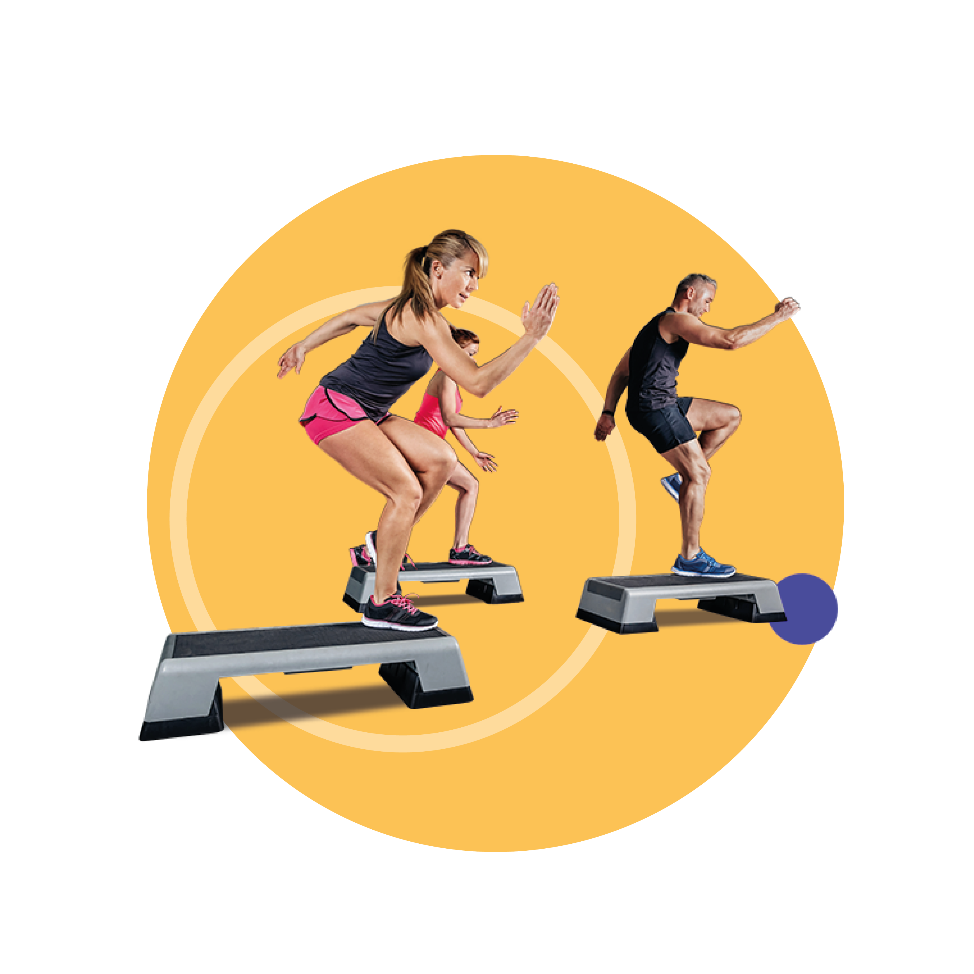 Man en vrouw die een fitnessoefening doen